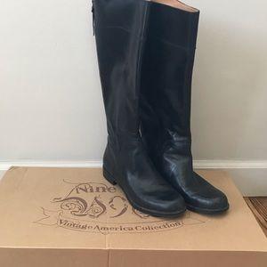 Black Nine West tall boots